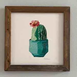 Distressed Farmhouse Cactus Succulent Wall Print